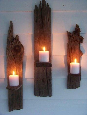 Qualquer pedaço de madeira, recolhida num monte de lenha pode transformar-se numa prateleira diferente.