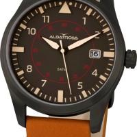 A_BROWN_caixa em aco ionizado, mostrador preto e bracelete em pele castanha_99 Eur