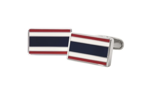 Botões de punho bandeira clássica, Tommy Hilfiger (pvp: €49).