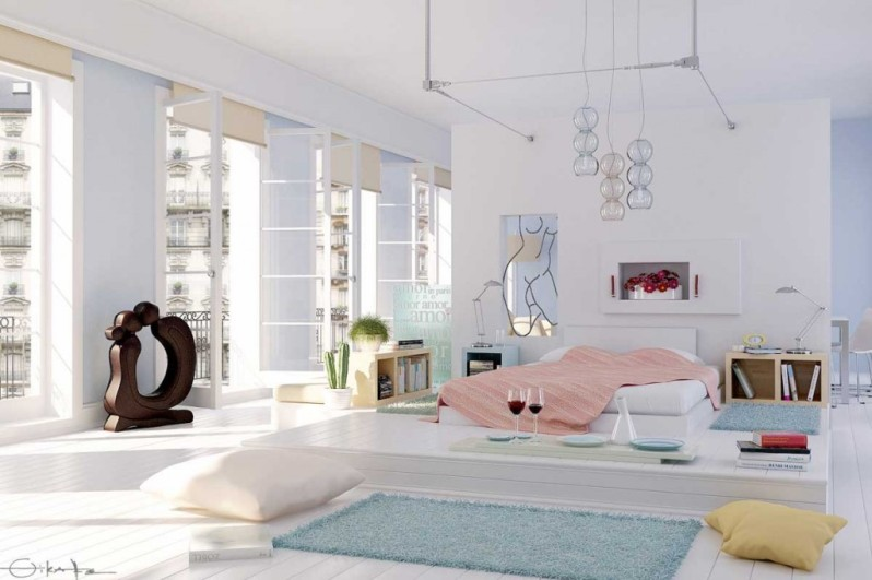 classy-drop-dead-white-bedroom-with-aqua-rug-by-elif-wallpapers - Cópia