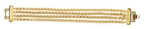 Pulseira multi correntes em aco dourado_89 Eur_2700614