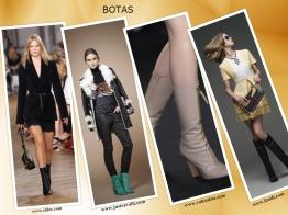 As BOTAS não param na altura dos tornozelos, SOBEM até meio da perna ou um pouco antes do joelho, estilo anos setenta. Use-as com saia, vestido midi ou mini, ou calça curta,