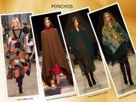 Tal como as capas. os ponchos são práticos e confortáveis e uma ajuda preciosa para tapar o frio.