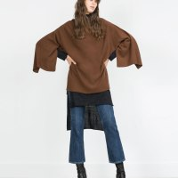 poncho de caxemira Zara 99.95 eur