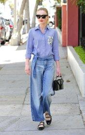 Faça como Kate-Bosworth. A ganga é perfeita para qualquer momento. Conjugue-a com acessórios mais ou menos sofisticados para um look. mais ou menos formal.
