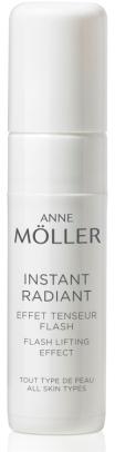 Instant Radiant de Ann Moller tem um efeito tensor, alisa a pele e ajuda a prolongar e a fixar a maquilhagem. Indicado para todos os tipos de pele (PVP recomendado: 17 €)