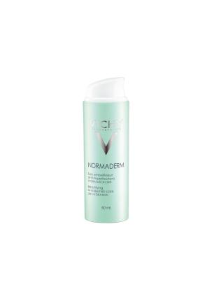 Cuidado hidratante anti-imperfeições global, Normaderme. Para peles com imperfeições, poros, brilho, vermelhidão. Excelente base de maquilhagem. (PVP: 16,26 €)