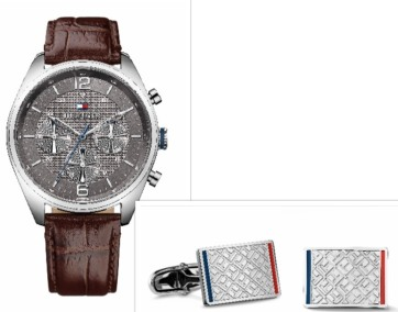 Relógio e botões punho, Tommy Hilfiger (PVP:199€).