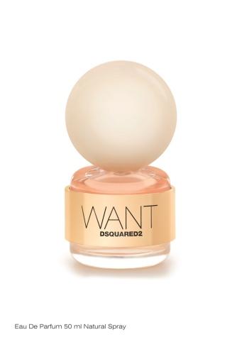 Want by Dsquared2 é uma arrojada Eau de Parfum floral oriental. (PVP: 50 ml, 65€)