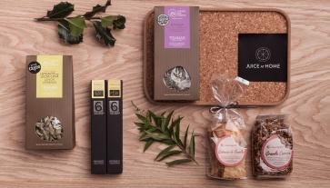 """Gift Box Brunch, com os melhores produtos portugueses. Na plataforma online """"Juice at Home"""" (PVO: €45,90)."""