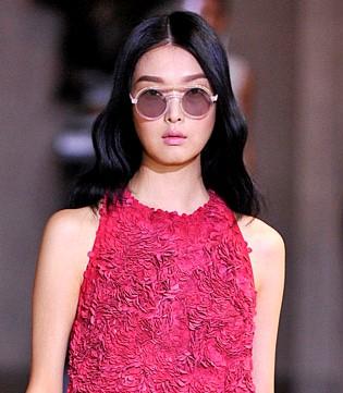 Óculos redondos. Carolina Herrera