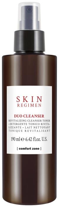 Leite desmaquilhante e tónico, no mesmo produto. O Duo Cleanser, da Confort Zone SKIN Regimen, é usado por profissionais.