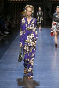 Pijama floral de Dolce & Gabbana.