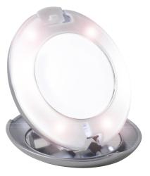 Espelho com luz LED, Tweezerman. Aumenta 10 x. No Corte Inglês ou em www.tweezerman.com (PVP: 30,50 €)