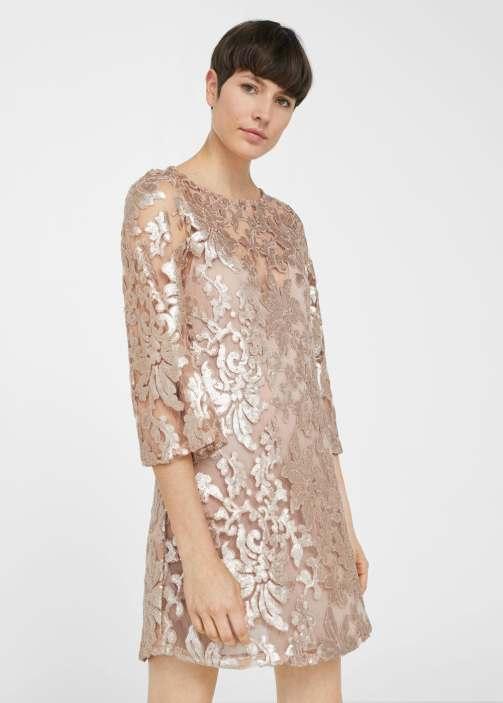 Vestido renda bordado, Mango PVP: 59,90 eur.